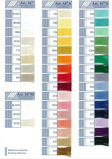 Dmc Cebelia Crochet Cotton Color Chart