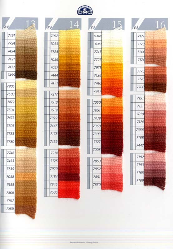 Laine Colbert Tapestry Wool Color Chart