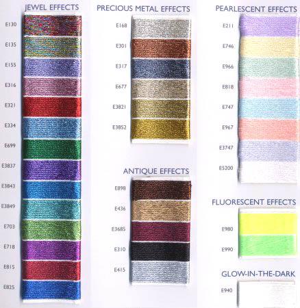 Dmc Light Effects List Of Colors Color Threads Dmc Threads Color