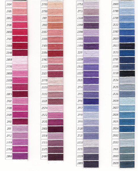 Dmc Retors Mat Color Chart Dmc Tapestry Retors Color Card