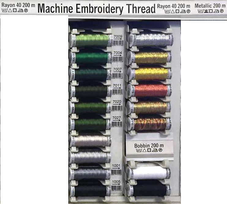 Gtermann Sulky Embroidery Thread Color Chart