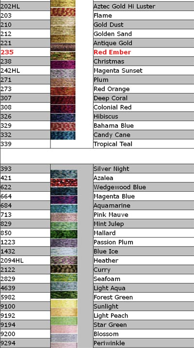 Kreinik Color Chart 3