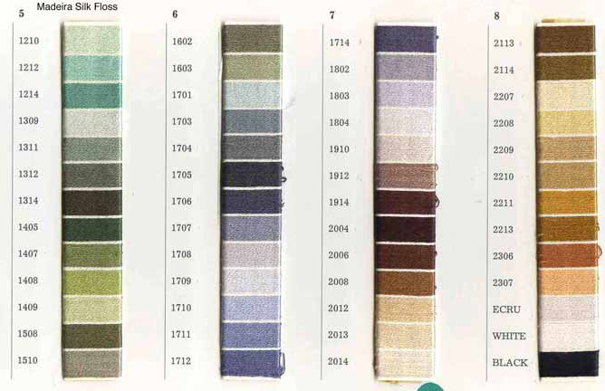 madeira threads colour chart email me for prices and general information - Madeira Color Chart