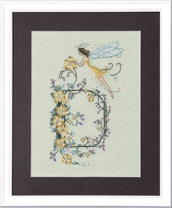Letters From Nora - D - Cross Stitch Pattern