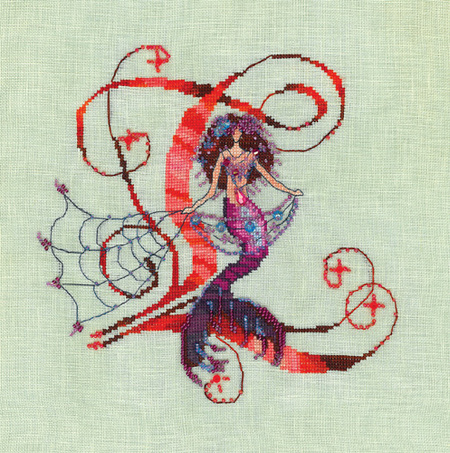 Letters From Mermaids L - Cross Stitch Pattern