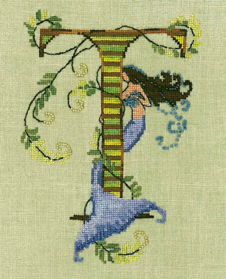 Letters from Mermaids T - Cross Stitch Pattern