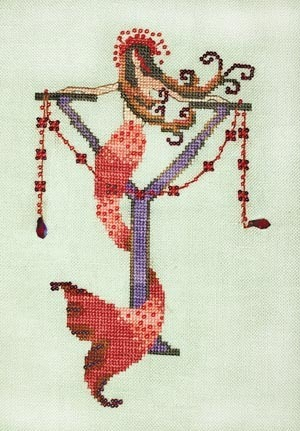 Letters From Mermaids - Y - Cross Stitch Pattern