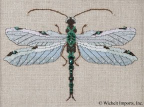 Silver Dragonfly, The - Cross Stitch Pattern