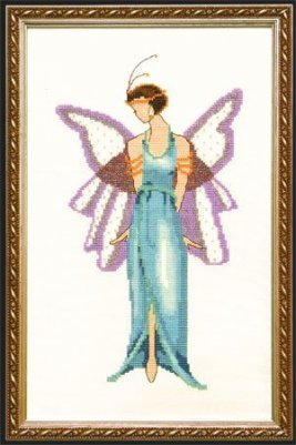 Jade Blue Spring Garden Pixie - Cross Stitch Pattern