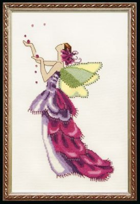 Orchid Spring Garden Pixie - Cross Stitch Pattern