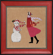 Red Winter Gift - Cross Stitch Pattern