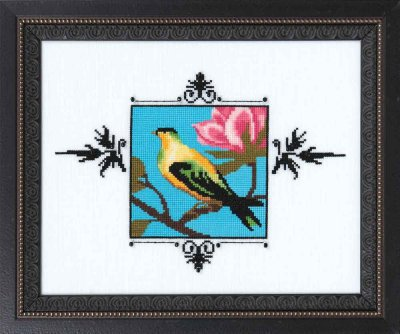 Yellow Figbird - Cross Stitch Pattern