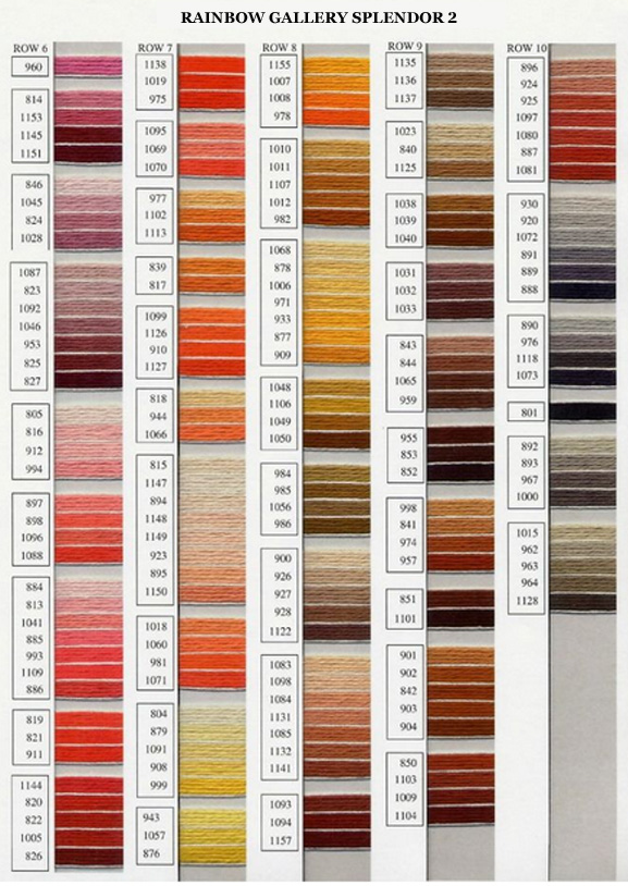Rainbow Gallery Splendor Color Chart 2