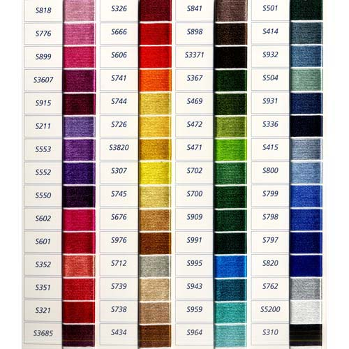 Dmc Satin Color Chart. List Of Colors. Color Threads. Dmc Threads